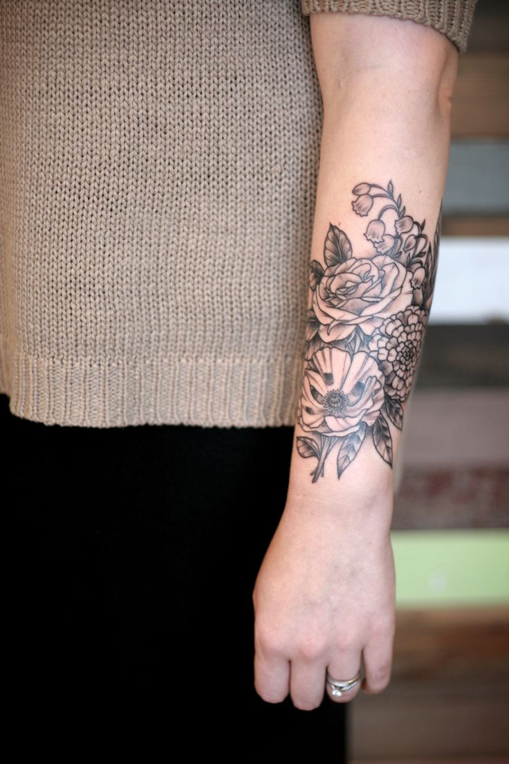 Floral Tattoo By Kirsten Holliday Tattoomagz