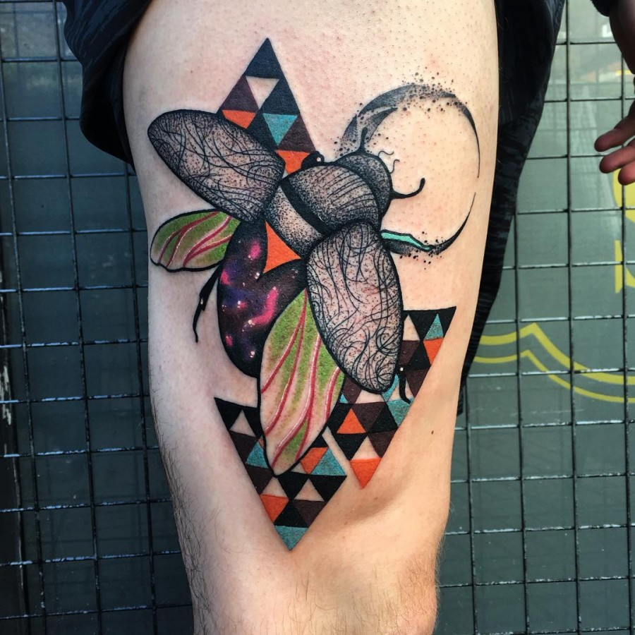 fly tattoo by littleandytattoo