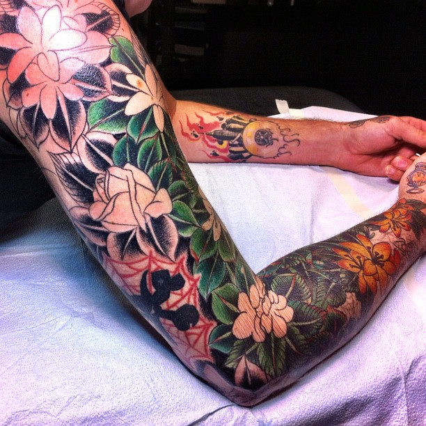 full arm jungle tattoo tattoomagz