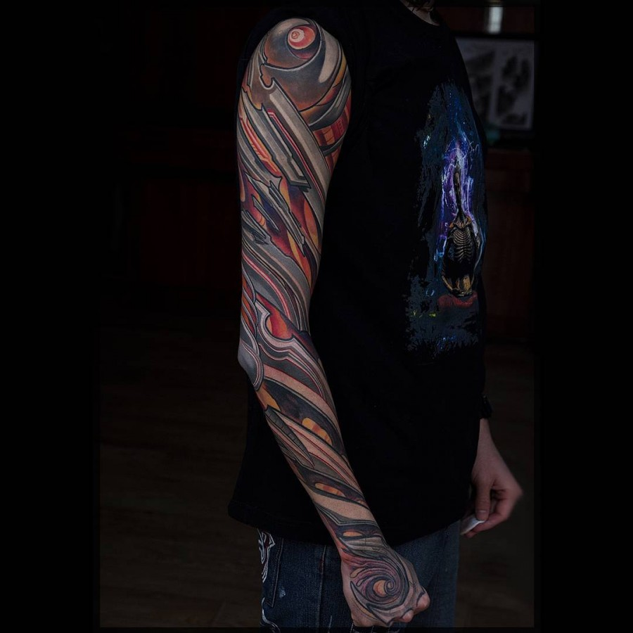full sleeve tattoo by rochone1