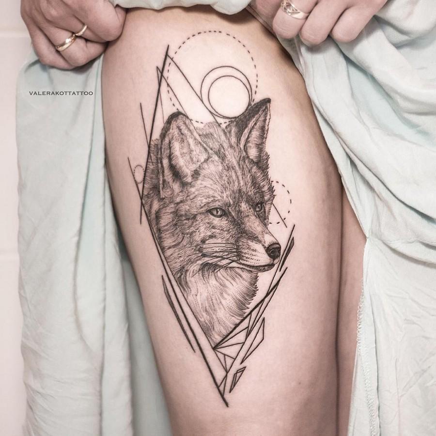 geometric for tattoo by valerakottattoo