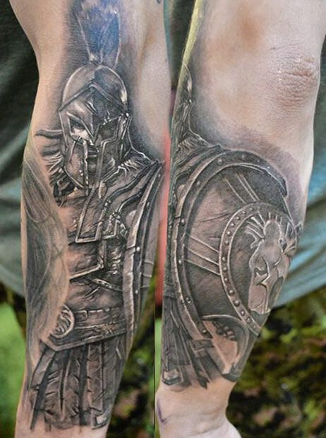 gladiator tattoo by elvin yong tattoomagz. Black Bedroom Furniture Sets. Home Design Ideas