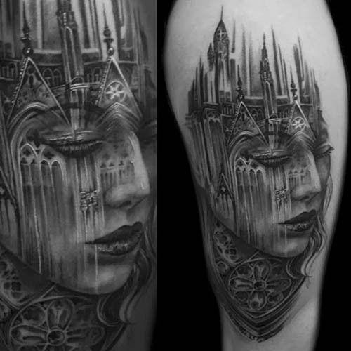 Фото татуировок готика на руке