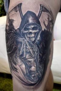 Grim reaper tattoo by Elvin Yong