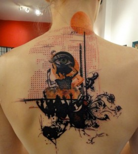 Incredible back tattoo by xoil