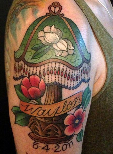 Lamp Tattoo By Amanda Leadman