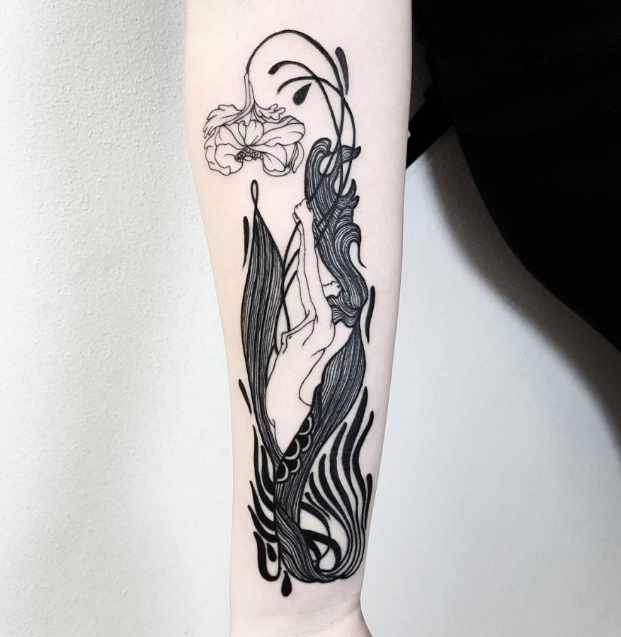 linework tattoo by matteonangeroni