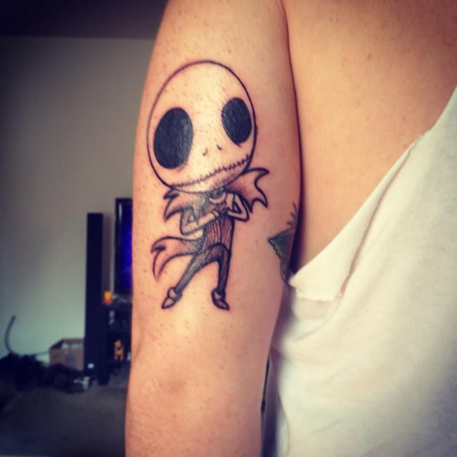 Little jack skellington tattoo - TattooMagz