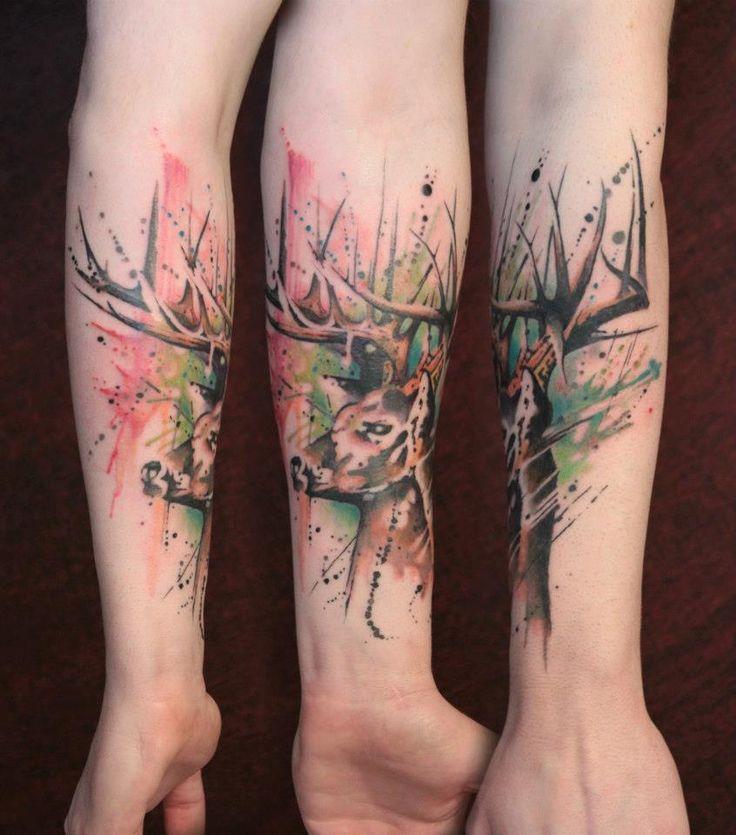 26 Deer Tattoos: Lovely Design Deer Arm Tattoo