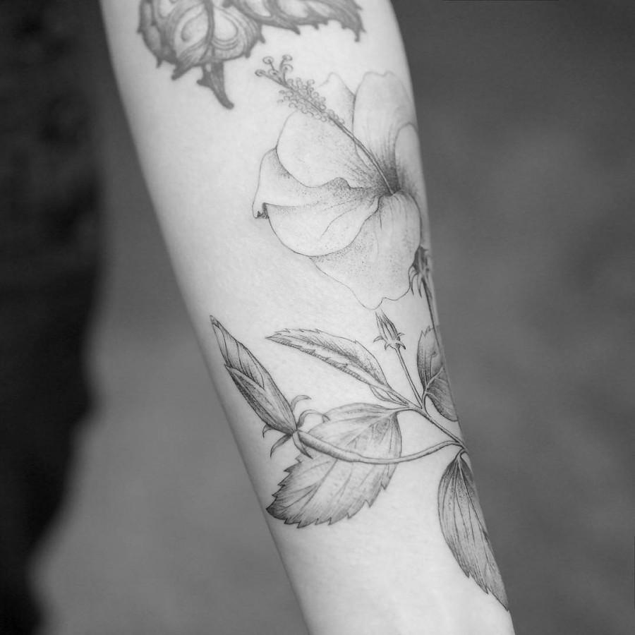 lovely flower tattoo