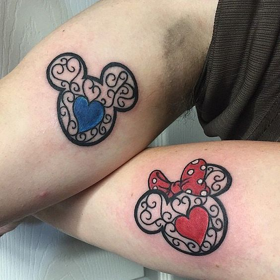 Mikey and Mini couple tattoo1