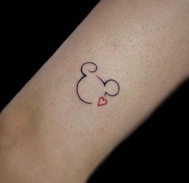 mini mickey tattoo by gabrielatattoo