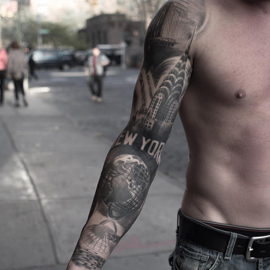 nyc view tattoo by anatolenyc