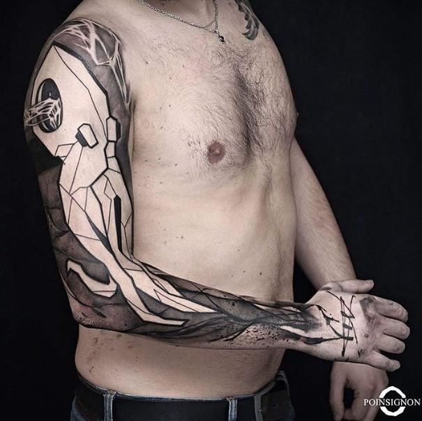 octopus full sleeve tattoo by olivierpoisignon