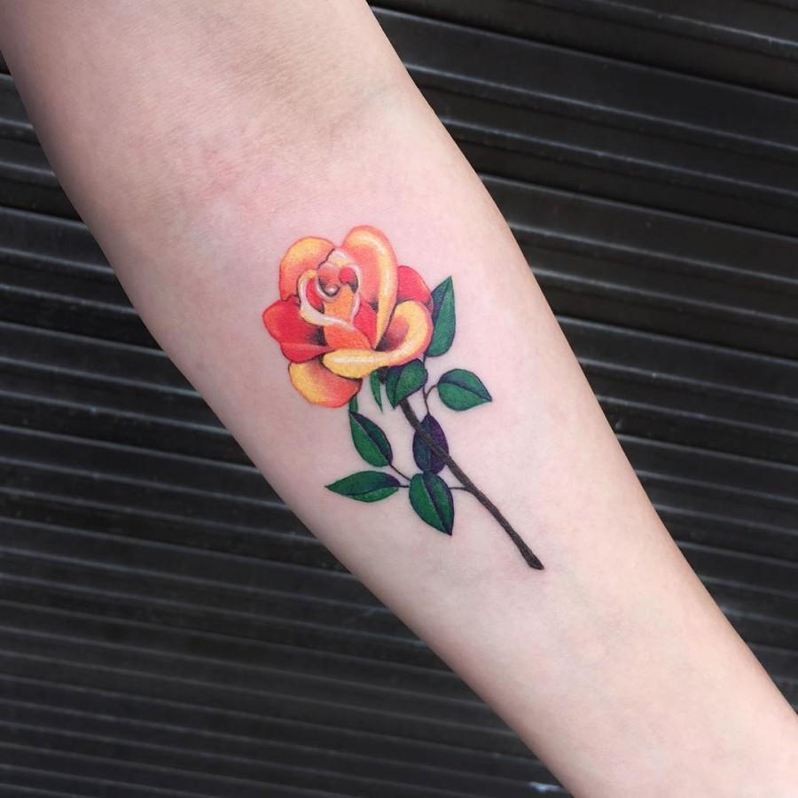 orange-rose-tattoo-by-zihee