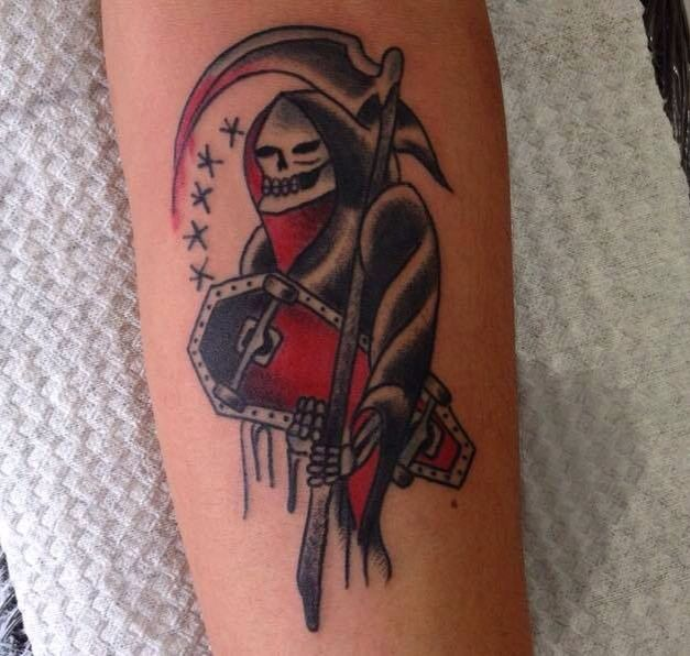 Santa Muerte tattoo, original design