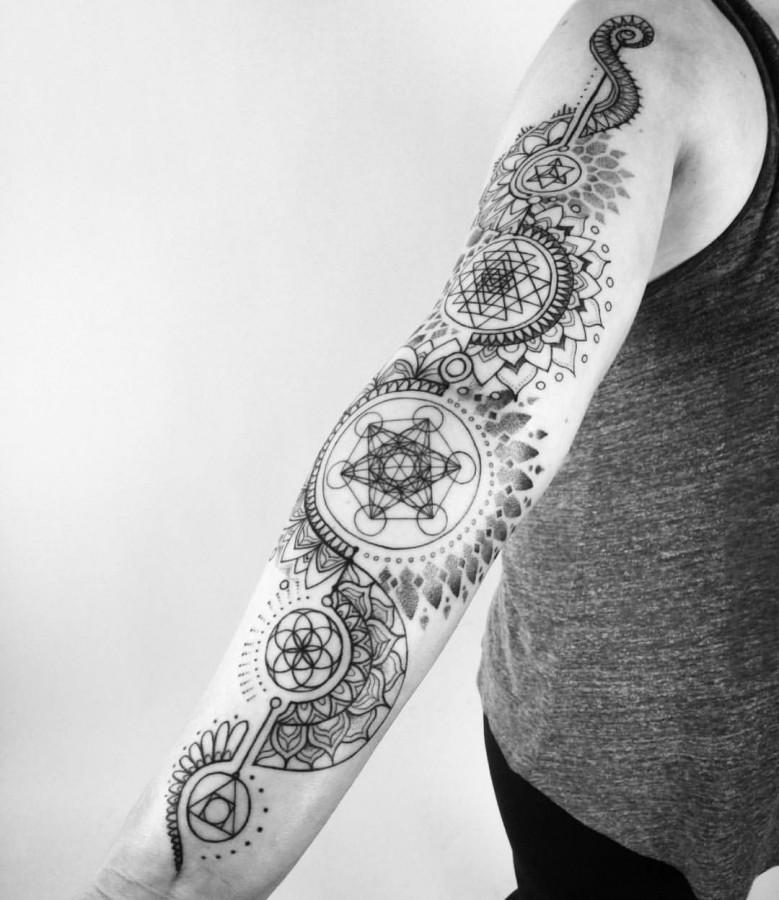 ornamental sleeve tattoo by piotrszot