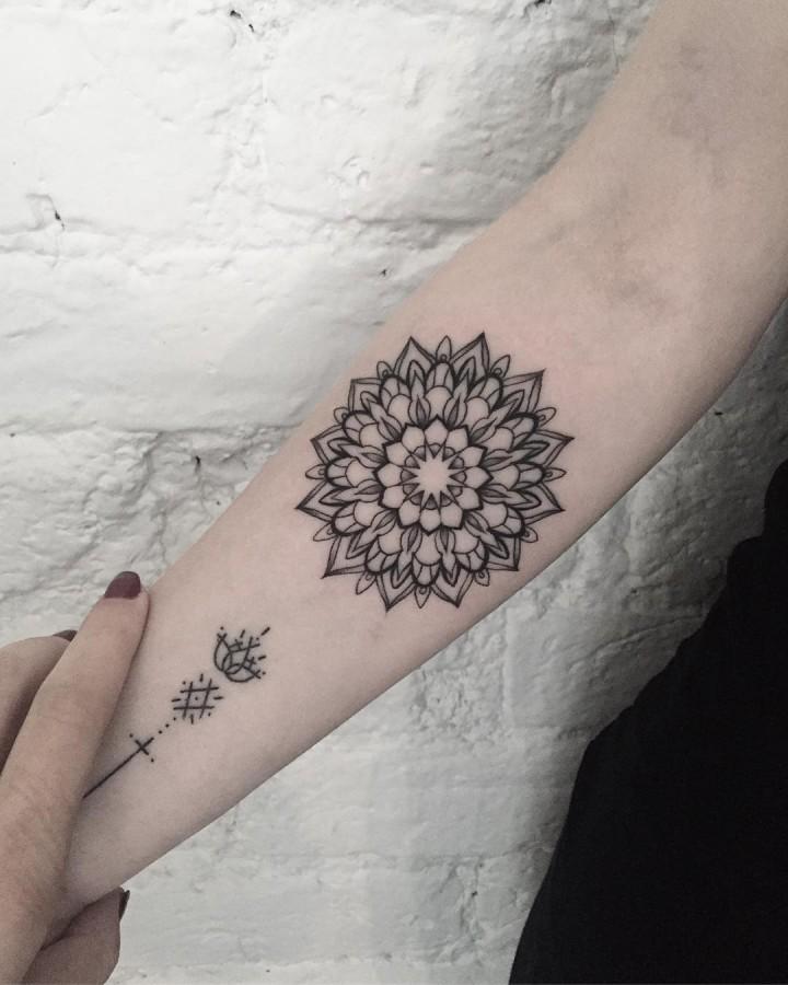 perfect mandala tattoo by dasha_sumtattoo