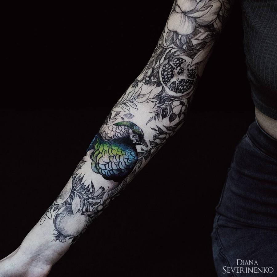 Diana Severinenko Nature Tattoos