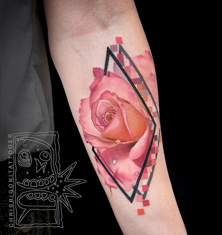 pink-rose-tattoo-by-chris-rigoni