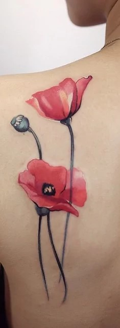 39 luxurious poppy tattoos tattoomagz poppy flower tattoo by tattoo doll mightylinksfo