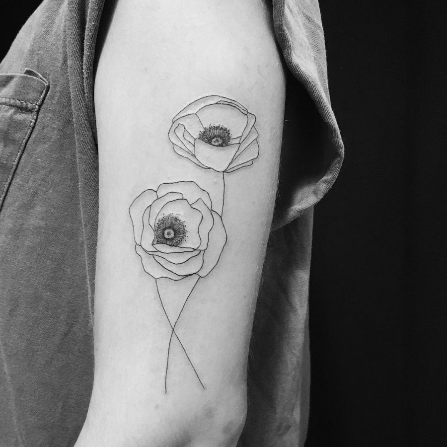 poppy tattoo by carin silver
