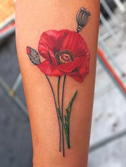 poppy tattoo by enya mahuta