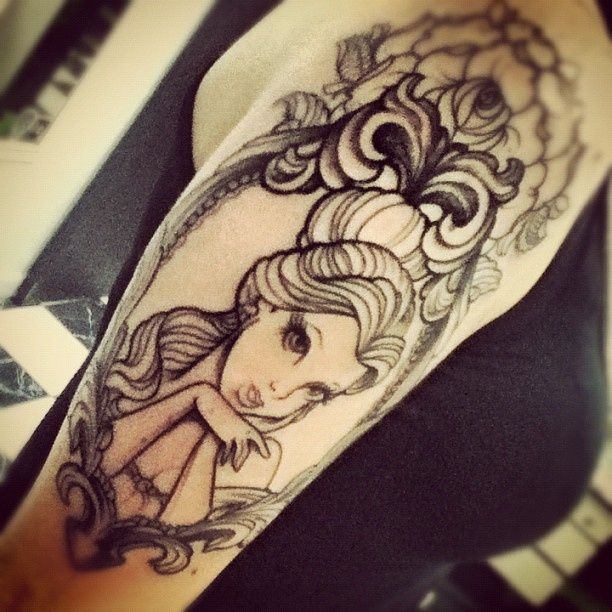 Princess belle frame tattoo TattooMagz