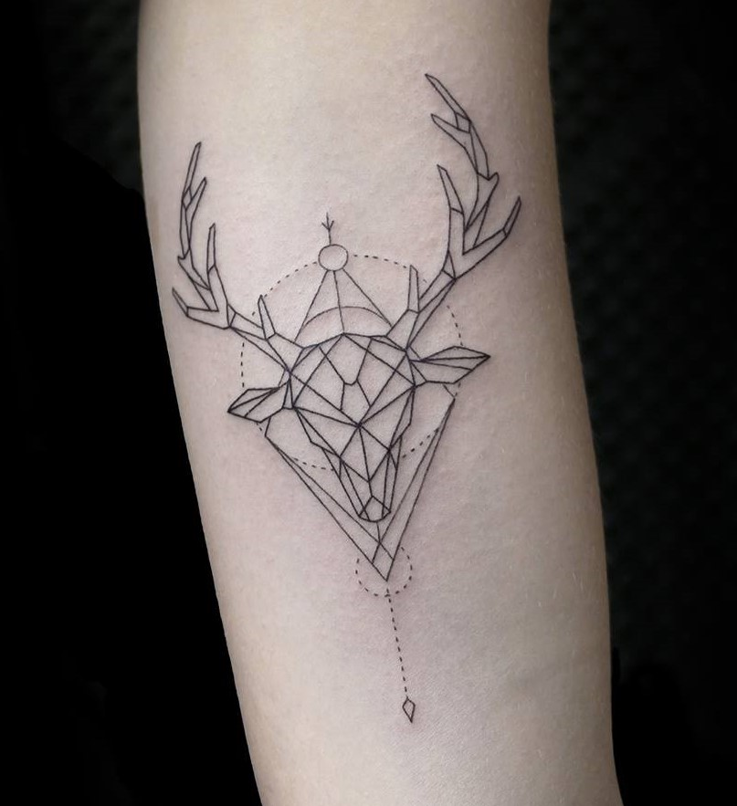 Rain deer tattoo