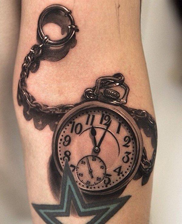 Realistic pocket watch tattoo  Realistic pocket watch tattoo - TattooMagz