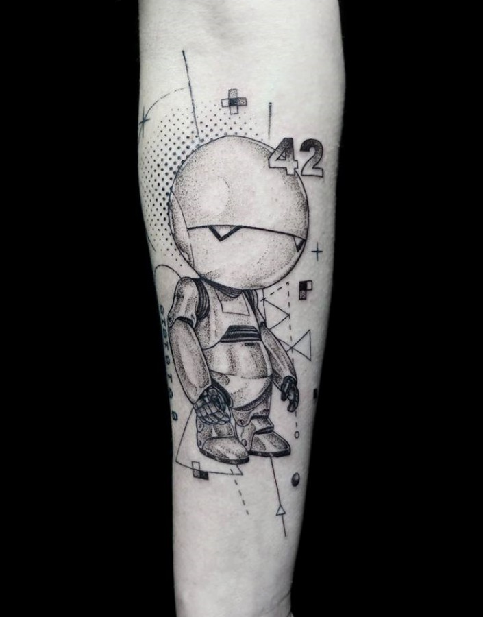 Robot tattoo