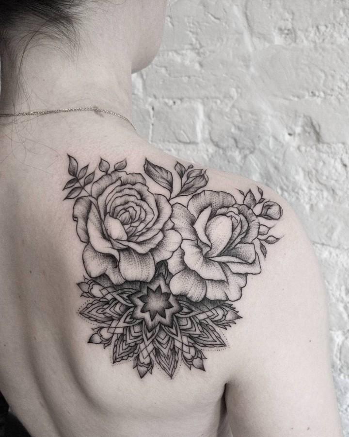 rose-and-mandala-tattoo-by-dasha-sumkina