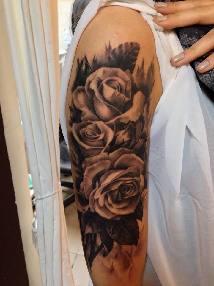 Roses arm tattoo by razvan for Rose tattoos on arm