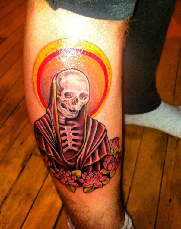 Santa Muerte Tattoo by Marshall Brown