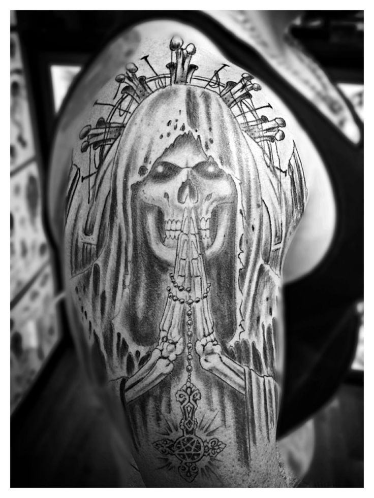 Santa Muerte Tattoo by Spirits