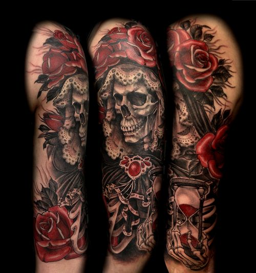 50 Drop Dead Gorgeous Santa Muerte Tattoos - Page 2 of 5 - TattooMagz