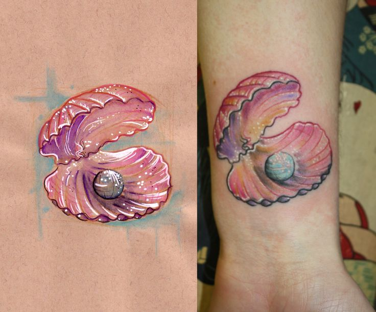 Shell And Pearl Tattoo Tattoomagz