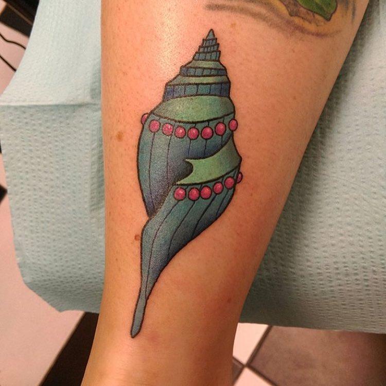 shell tattoo by aces high boynton beach