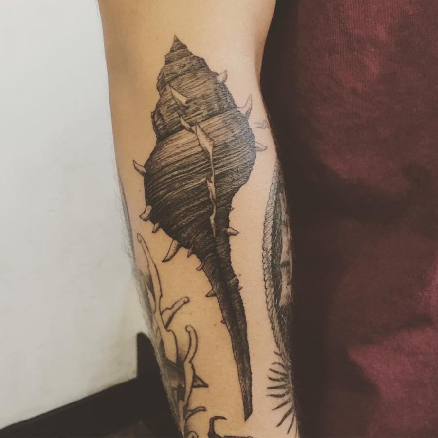 shell tattoo by marlon m toney