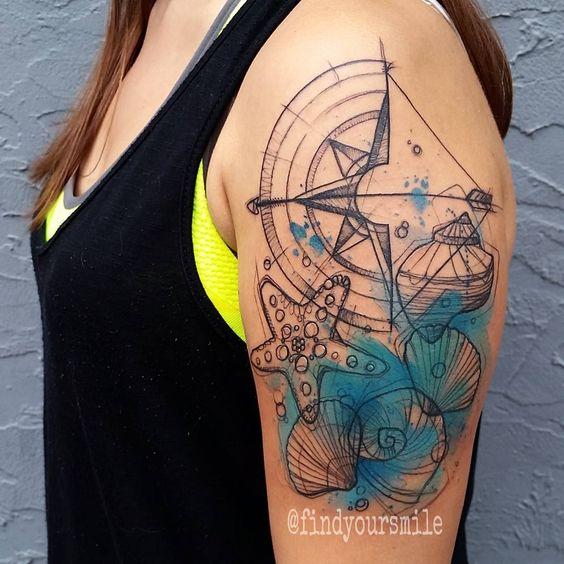 shell tattoo by russel van schaick