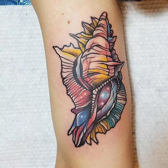 shell tattoo by sj