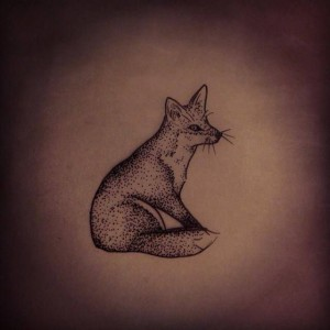 Simple fox tattoo by Rebecca Vincent