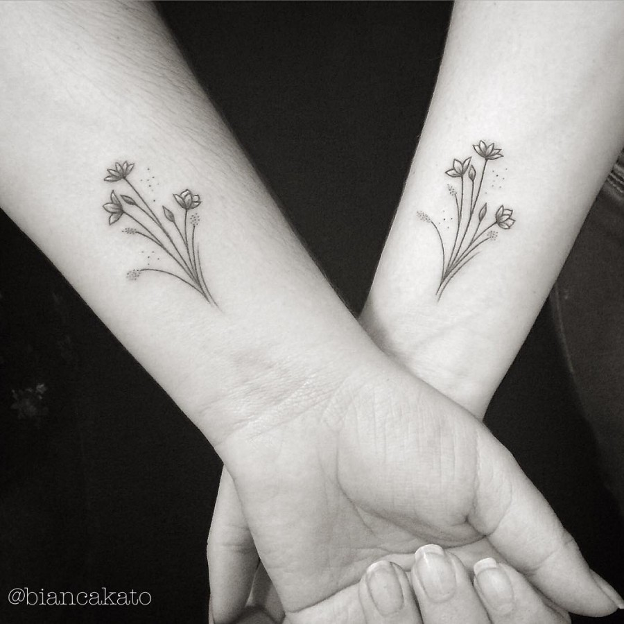 Black Flower Tattoos Wrist: 77 Deliciously Delicate Wrist Tattoos