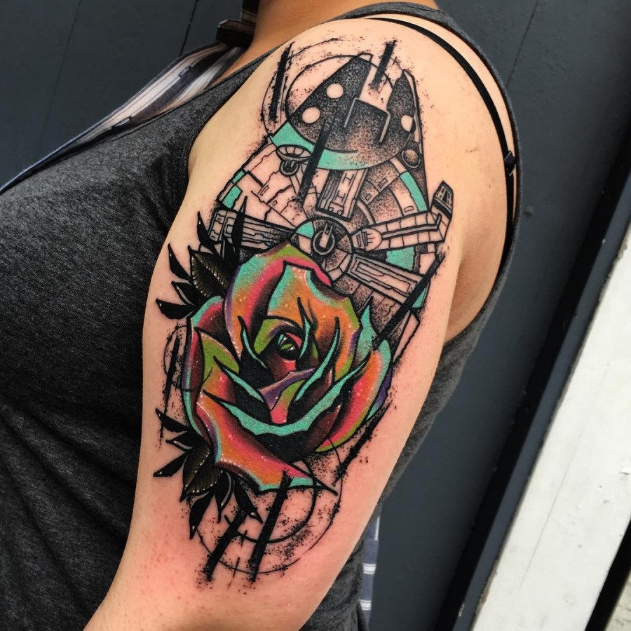space tattoo by littleandytattoo