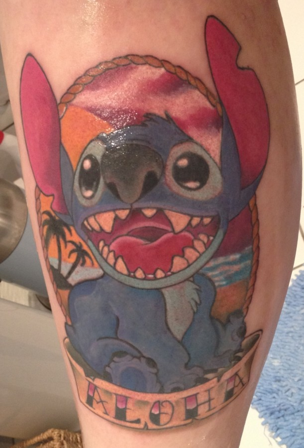 Stitch frame aloha tattoo - TattooMagz