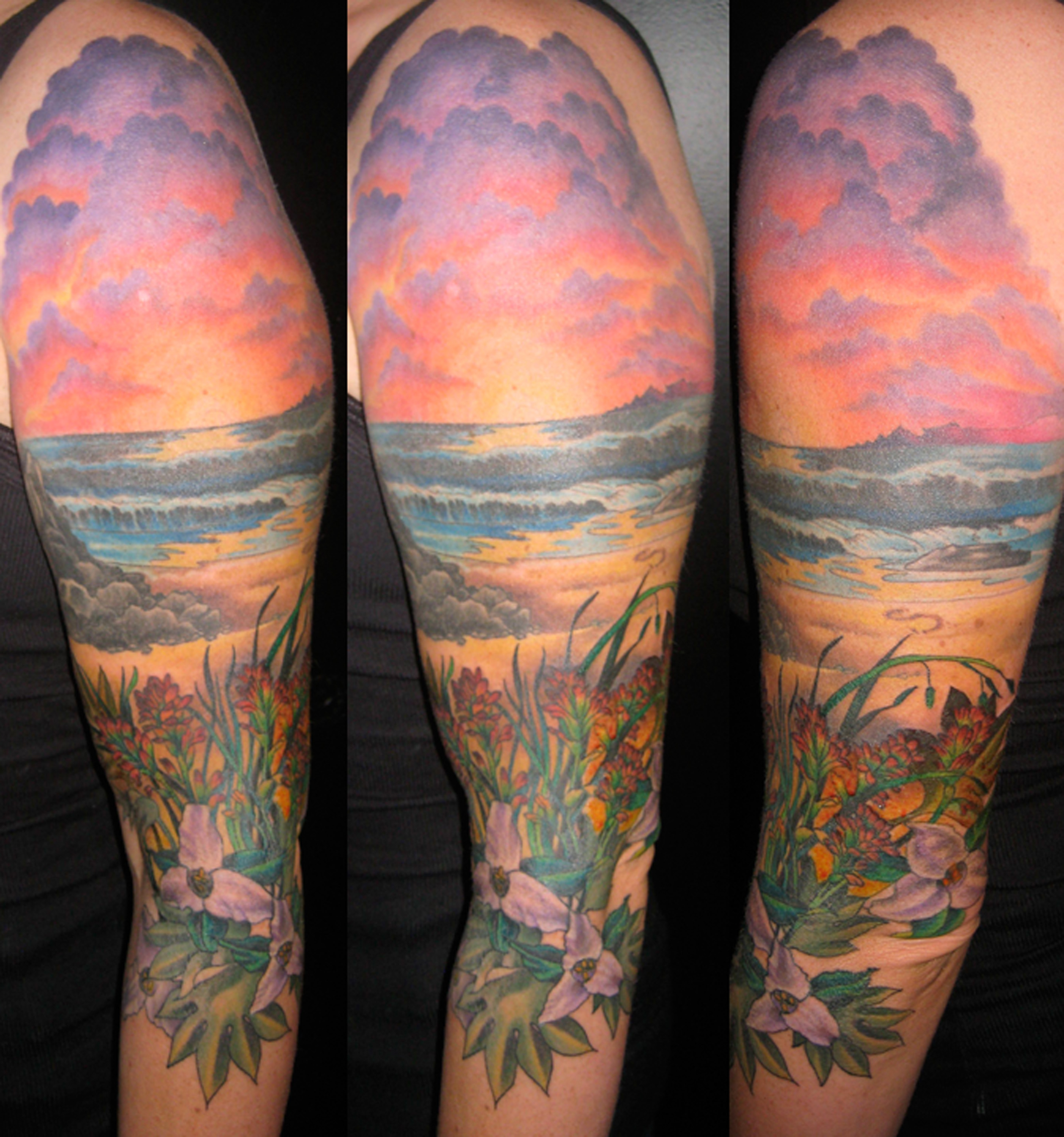 Sunset on the beach tattoo tattoomagz for Beach sunset tattoos