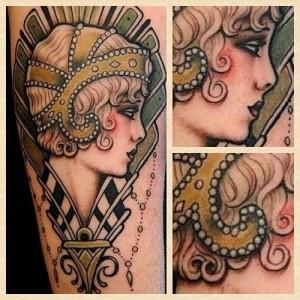Sweet lady tattoo by W. T. Norbert