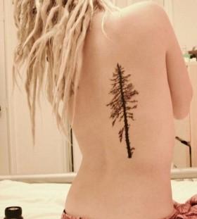 Sweet pine tree back tattoo