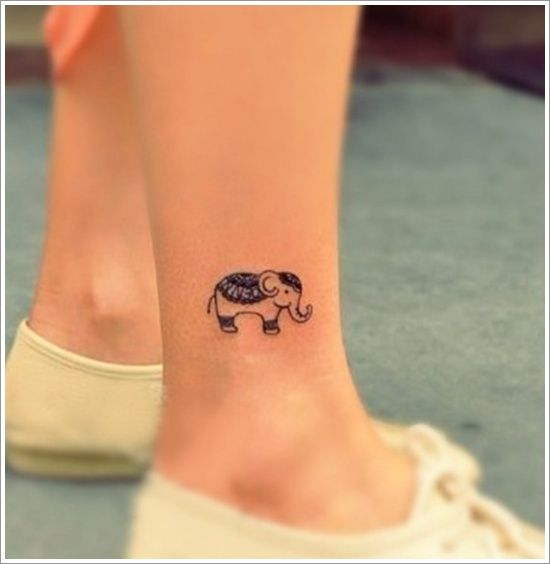 Black Leg Elephant Tattoo Tattoomagz