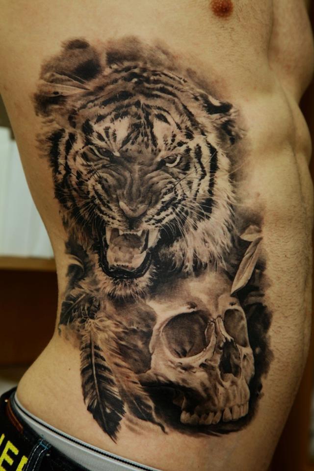 Black Skull Tattoo Design Skull Tattoo Black Tiger